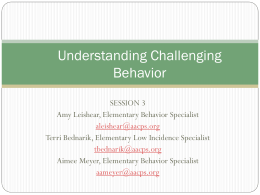 Challenging Behavior Session 3 PPT