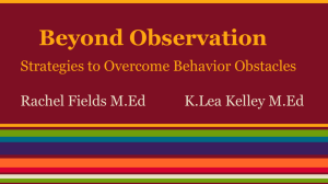 Beyond Observation - Utah Montessori Council