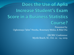 Does the Use of Aplia Increase Student`s Exam Score in a Business