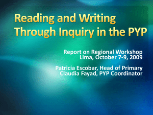Reading and Writing Through Inquiry - kinder-CCB