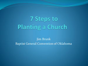 7 steps to planting a church