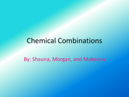 Chemical Combinations Project