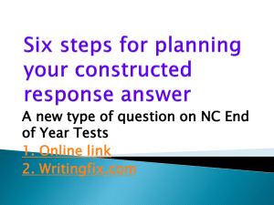 Constructed Response PowerPoint