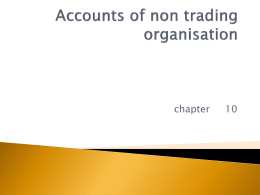 Final accounts of non trading organisation