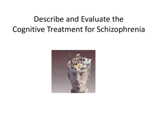 cognitive behavioural therapy treatment for