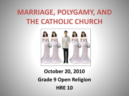 Why Polygamy? - kingscollege.net