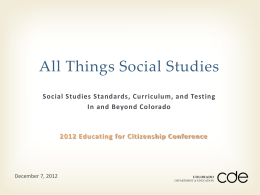 Ppt: All Things Social Studies - Center for Education in Law and