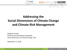 What are the social dimensions of climate change?