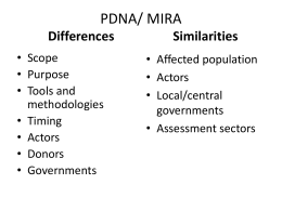 PDNA - early recovery
