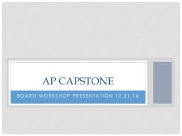 AP Capstone - Pinellas County Schools
