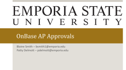 OnBase AP Approvals