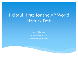 past essay topics ap world history exam