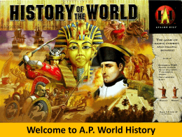 A.P. World Intro PowerPoint