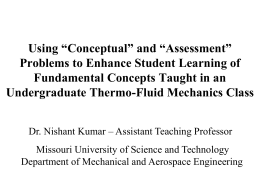 """assessment problems"". - Missouri University of Science and"