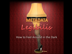 Metadata Legibilis: How to Feel Around in the Dark