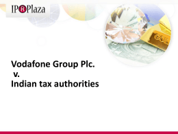 Vodafone Group Plc. v. Indian tax authorities