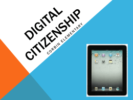 Digital Citizenship PowerPoint