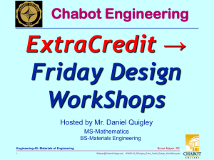 Design-Engineering Workshops