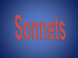 Sonnets Notes - 1302englishcomposition