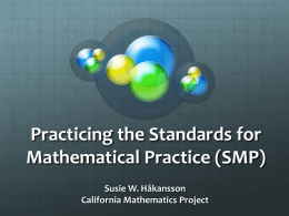 Handout - Greater San Diego Math Council