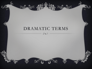 Dramatic terms