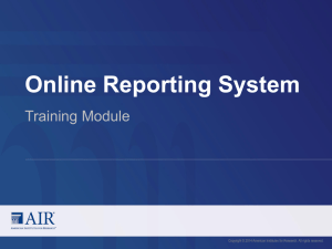 (ORS) Training Module
