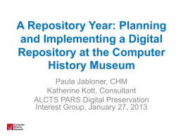 Planning and Implementing a Digital Repository at