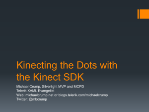 Kinecting the Dots with the Kinect SDK