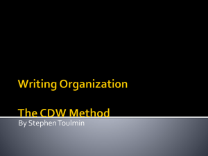 Writing Organization The CDW Method