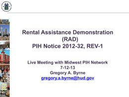 Transforming Rental Assistance (TRA)