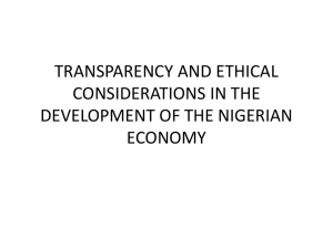 transparency and ethical considerations in the development of the