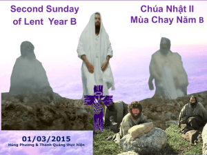 Second Sunday of Lent Year B 01/03/2015