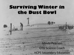 Surviving Winter in the Dust Bowl