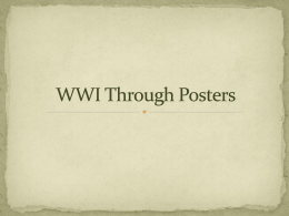 WWI Through Posters