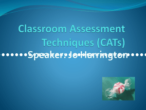 Classroom Assessment Techniques (CATs)