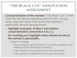 *The Black Cat* Annotation Assignment