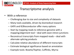 Transcriptome analysis
