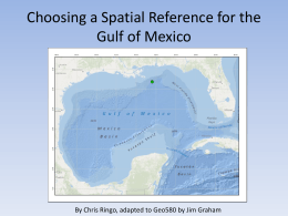 A Custom Spatial Reference System for the Gulf of Mexico