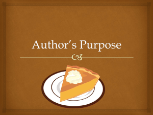Author*s Purpose - Crafton Hills College