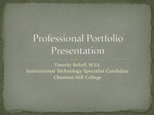 here - The Professional Portfolio of Timothy Belloff