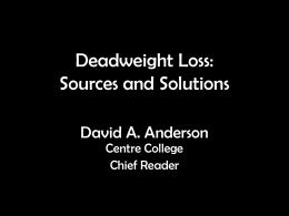Deadweight Loss Presentation
