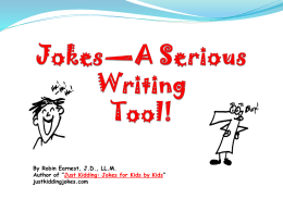 Jokes Slideshow - Just Kidding Jokes