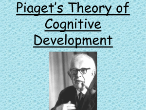Piaget`s Theory of Cognitive Development