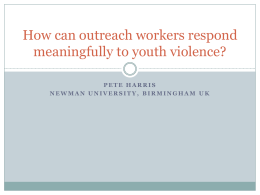 How can outreach workers respond meaningfully to youth violence?