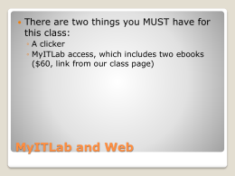 Make sure you have a valid MyITLab account and can get into