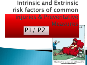 Sporting injuries intrinsic extrinsic and preventative measures