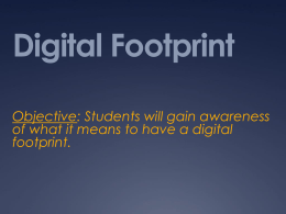 Week 2 digital footprint - Digital Citizenship