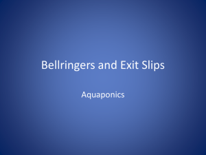 Bellringers and Exit Slips