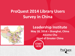 ProQuest - HKU Libraries