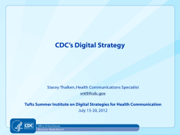 CDC Presentation - Web Strategies for Health Communication